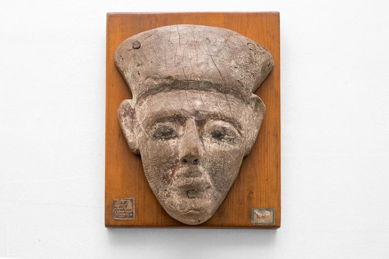 Маска саркофага. Древний Египет. Новое царство. Дерево